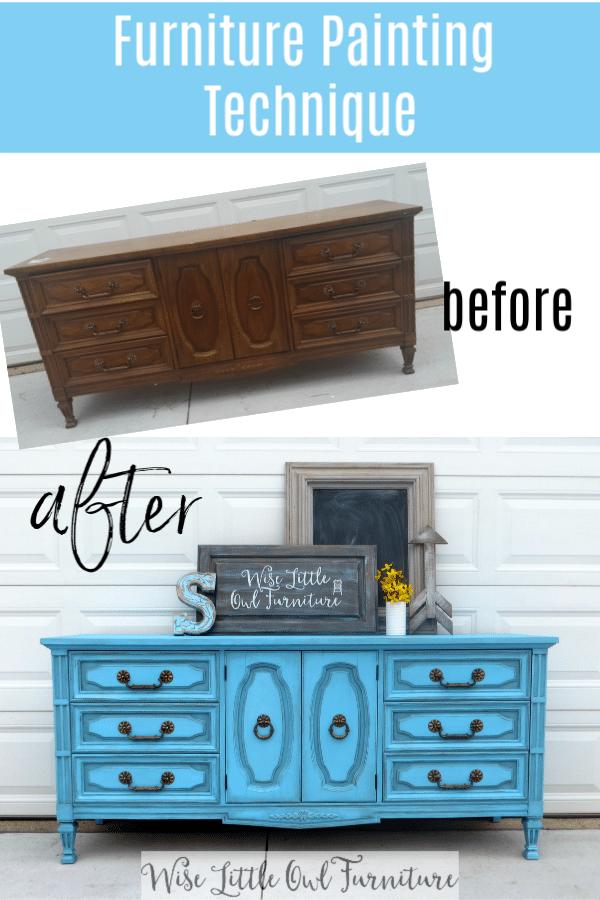Dixie blue dresser