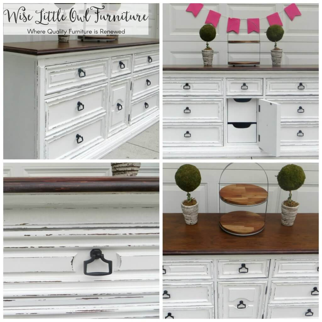 Before & after dresser to buffet transformation