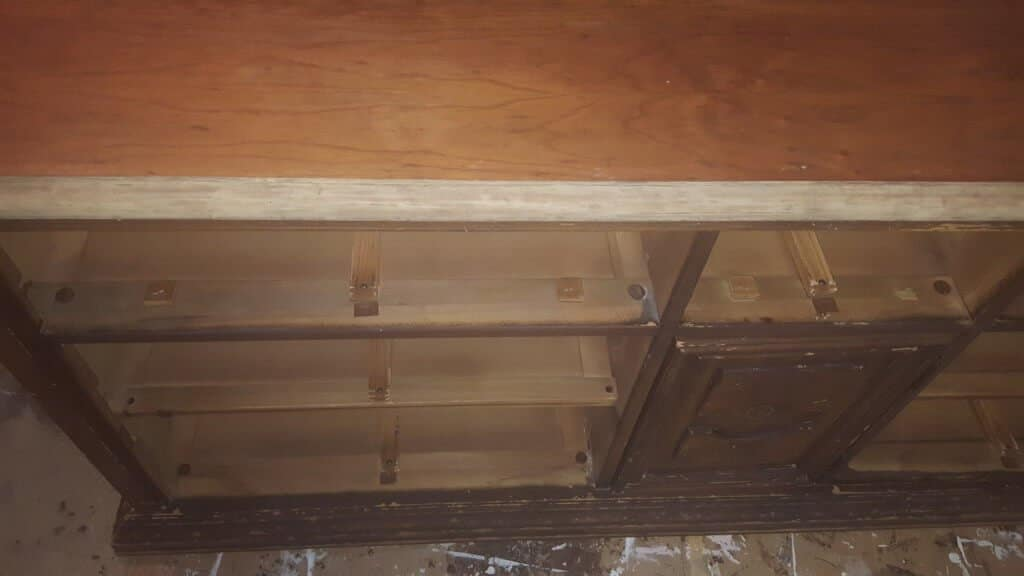 Before & after dresser to buffet transformation edge issue
