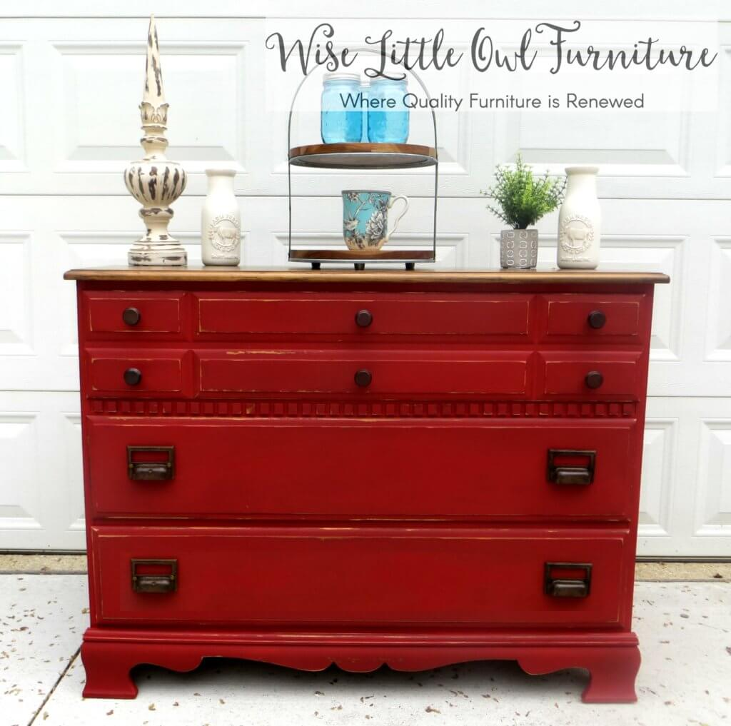 Red Farmhouse Dresser