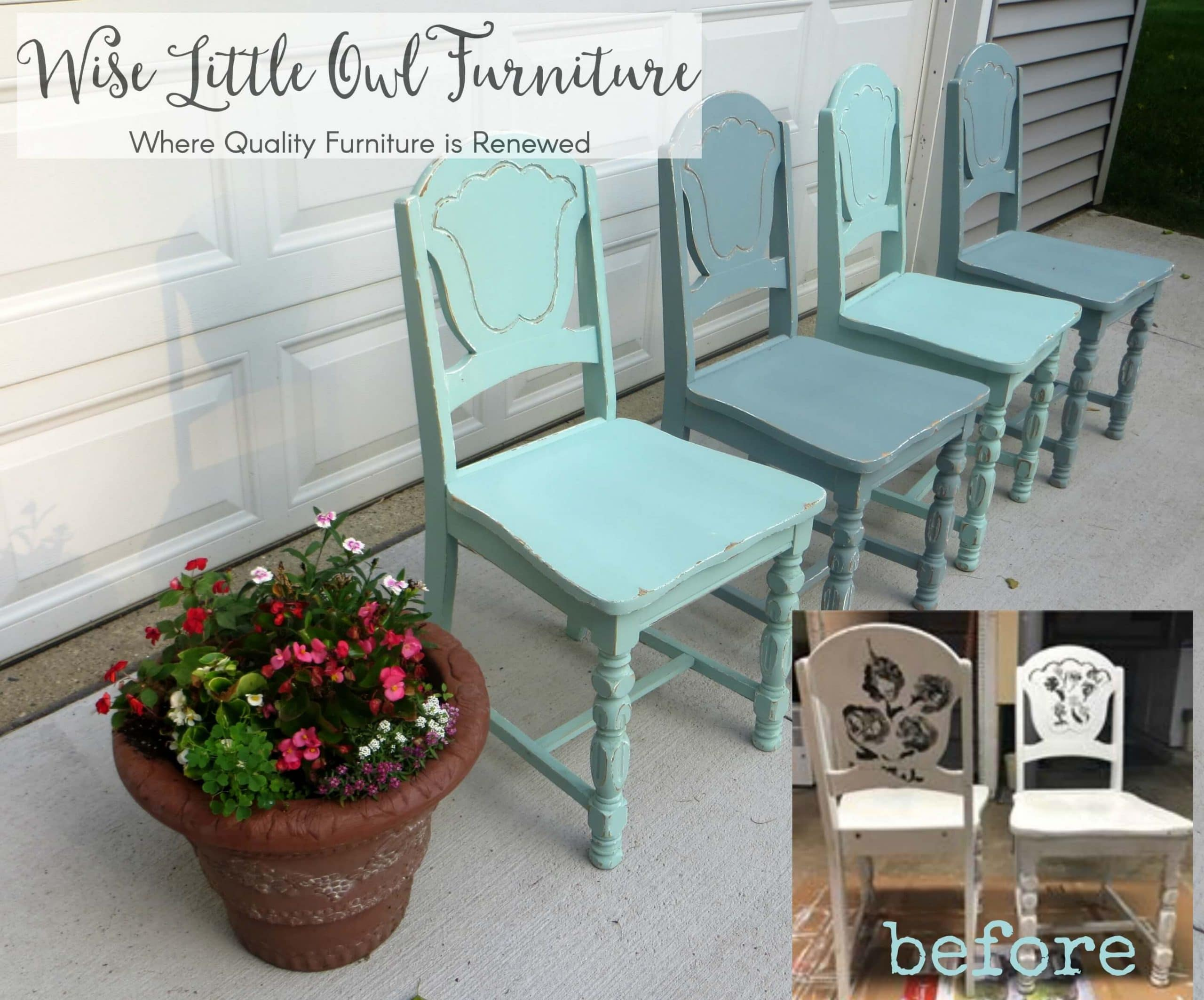 cottage chairs before & after