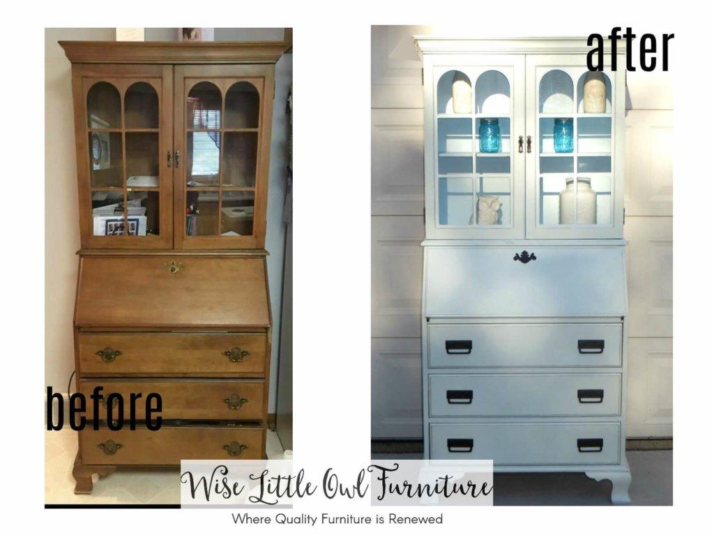 secretary desk before & after