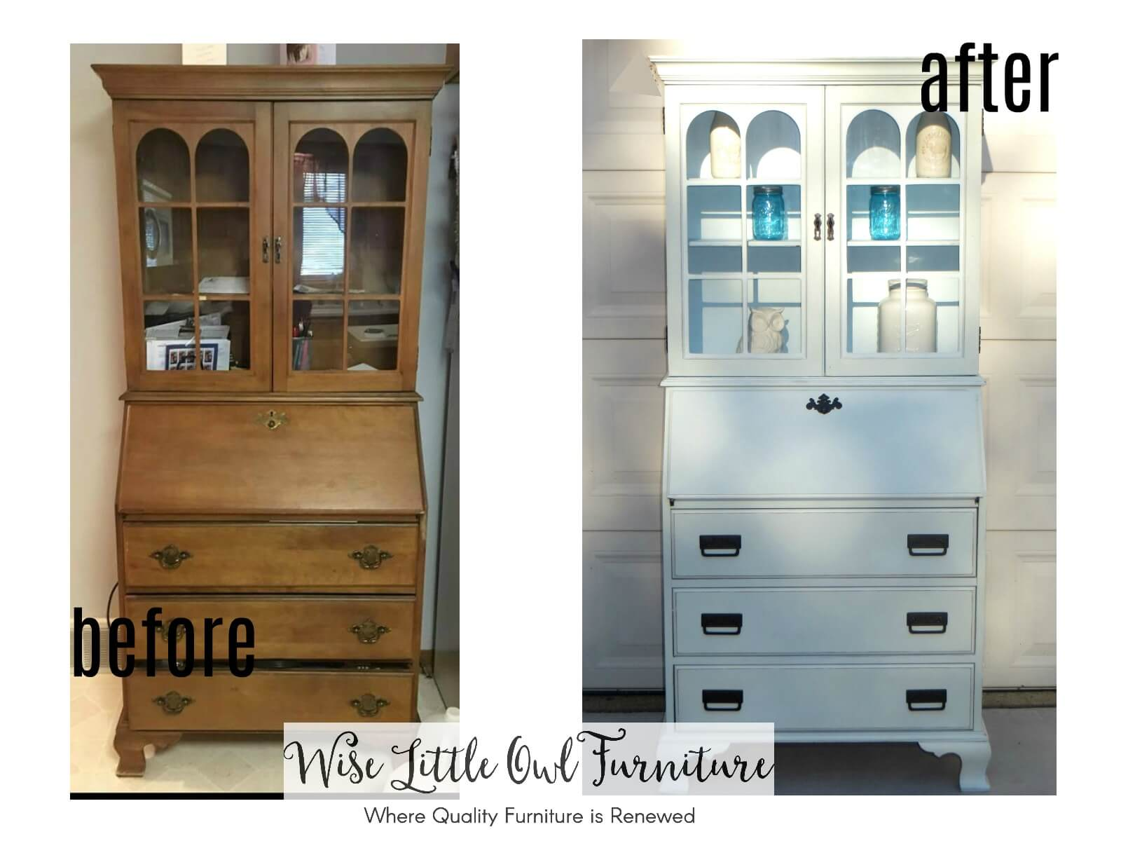 secretary desk before & after