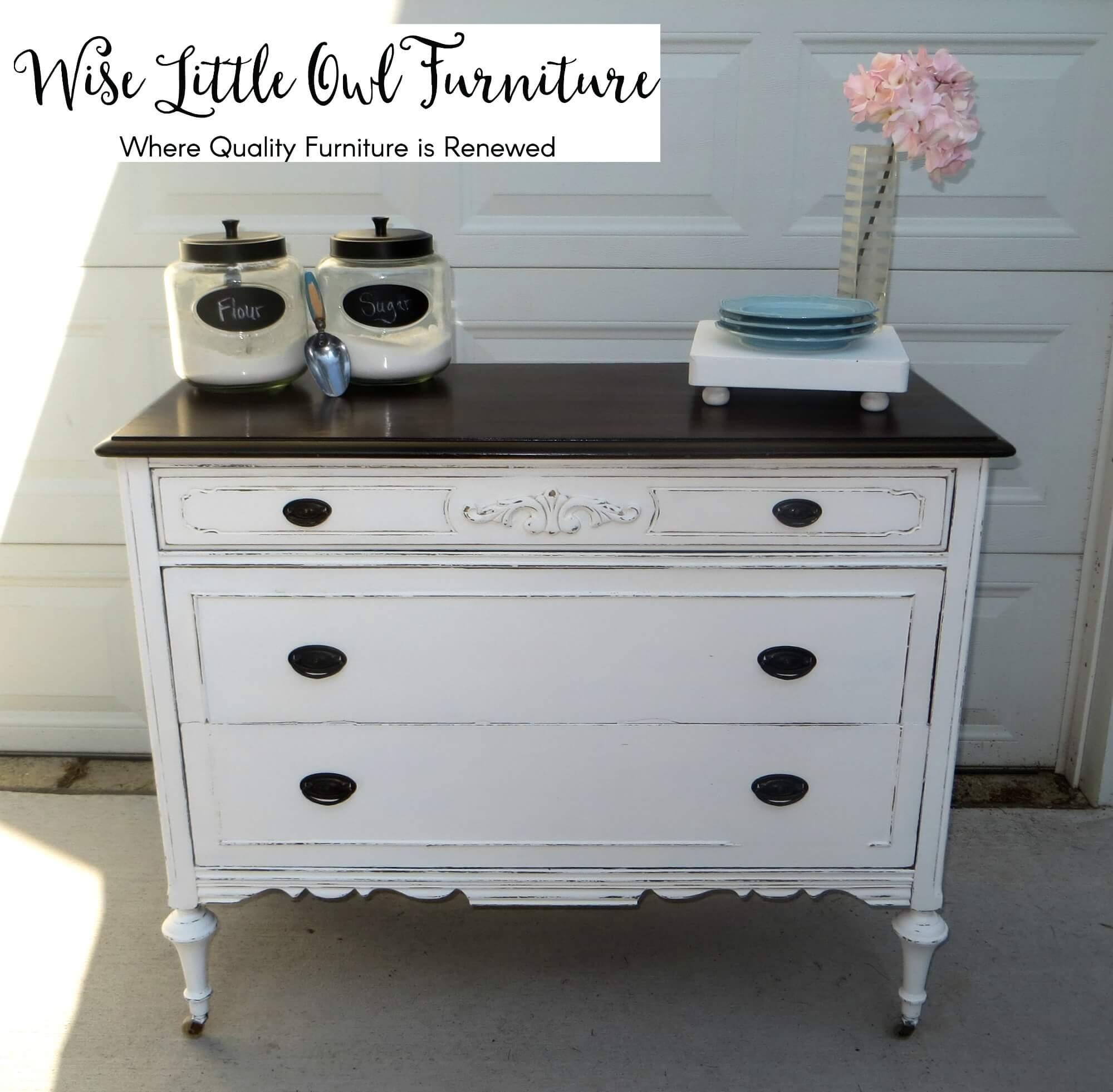 antique dresser after
