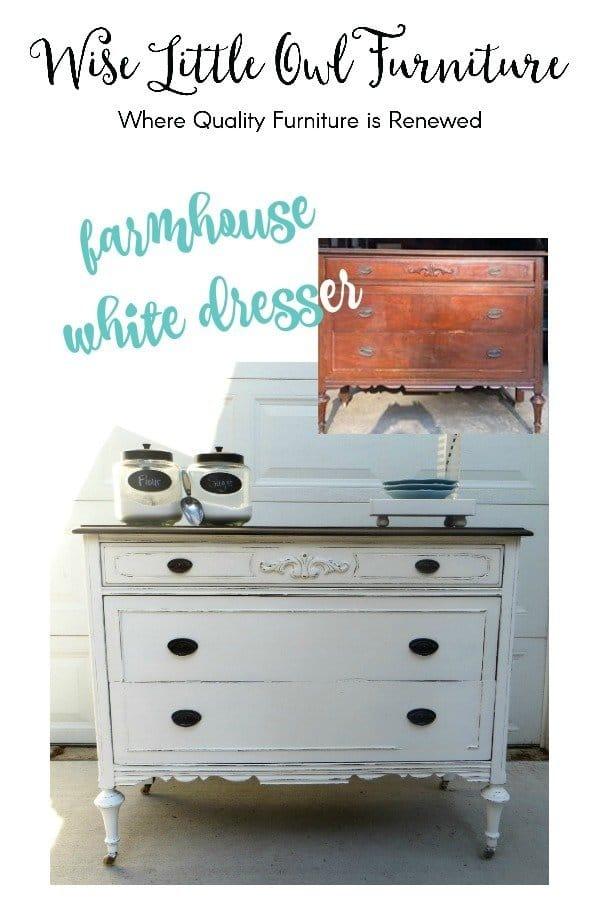 before & after antique dresser