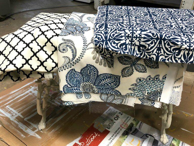 footstool fabric choice