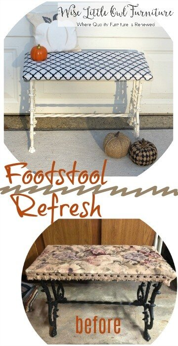 footstool before & after