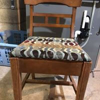 sewing chair before