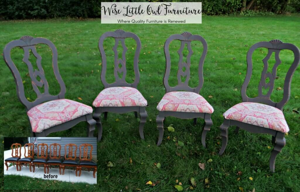 dining chairs before & after