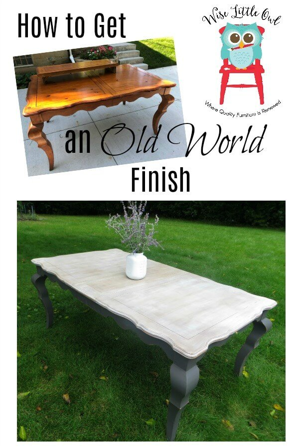 old world table before & after