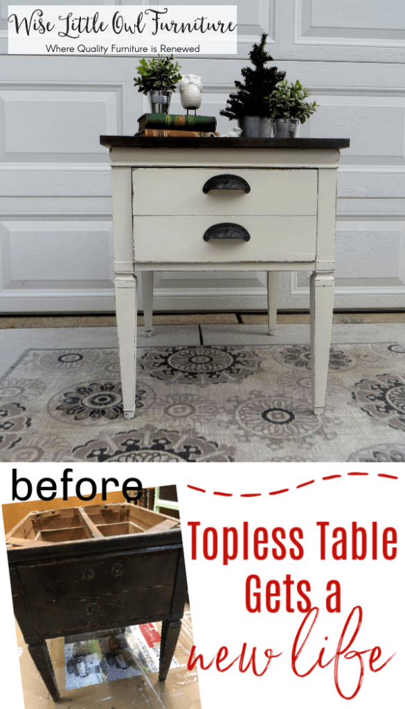 end table before & after