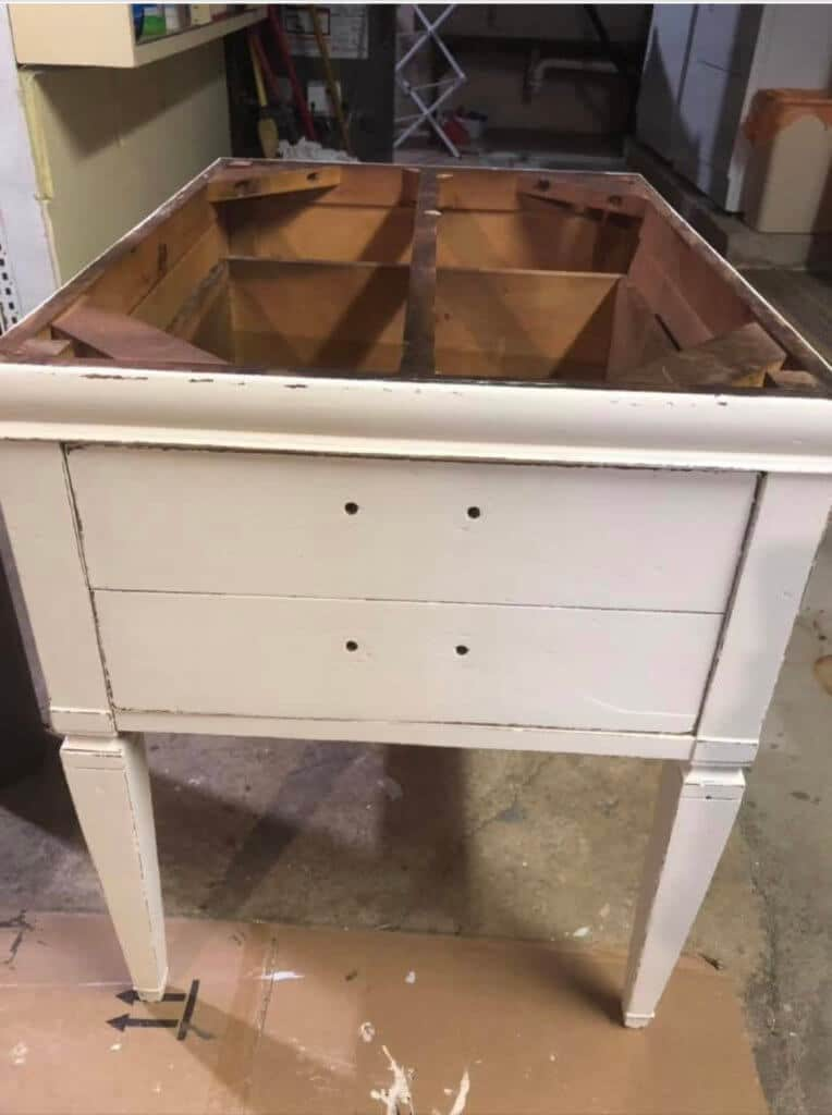 End table painted no top