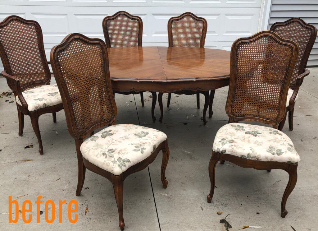 Gayle's dining set before