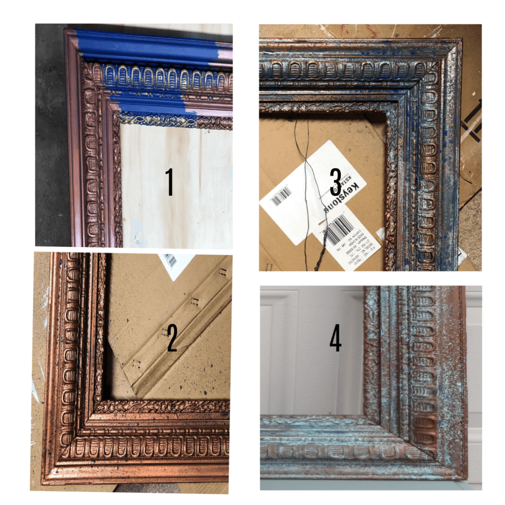 patina frame collage