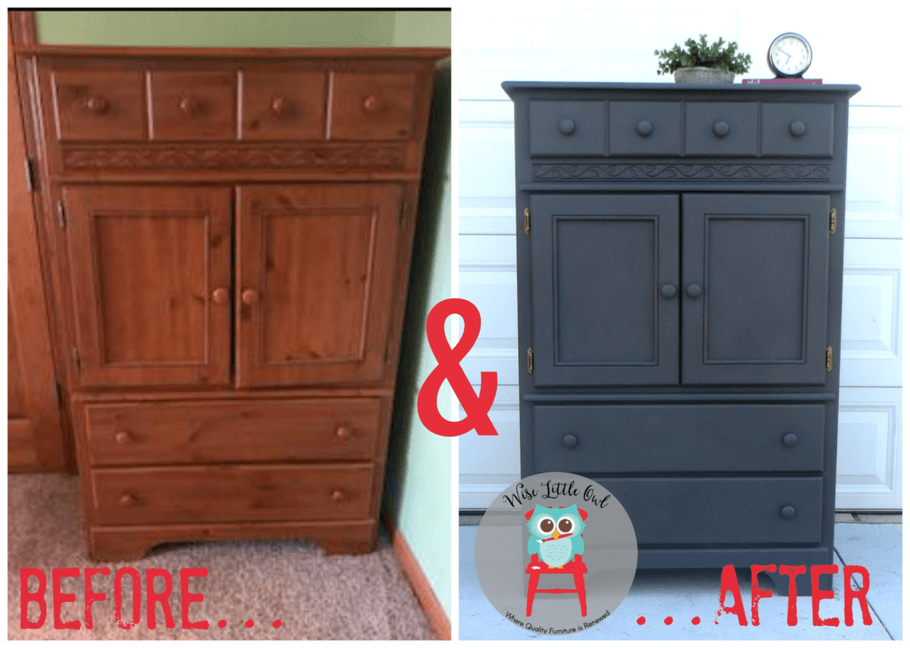 Robin's dresser before & after