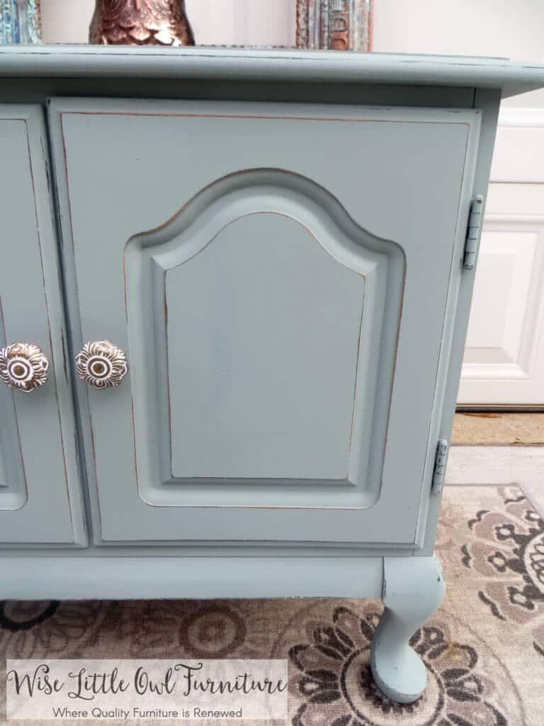 vintage duck egg blue table knobs