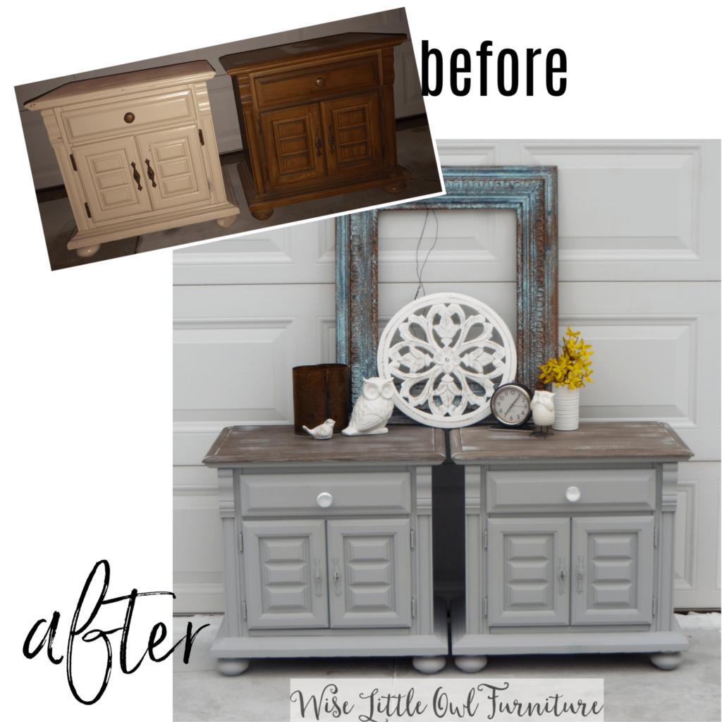 nightstands before & after