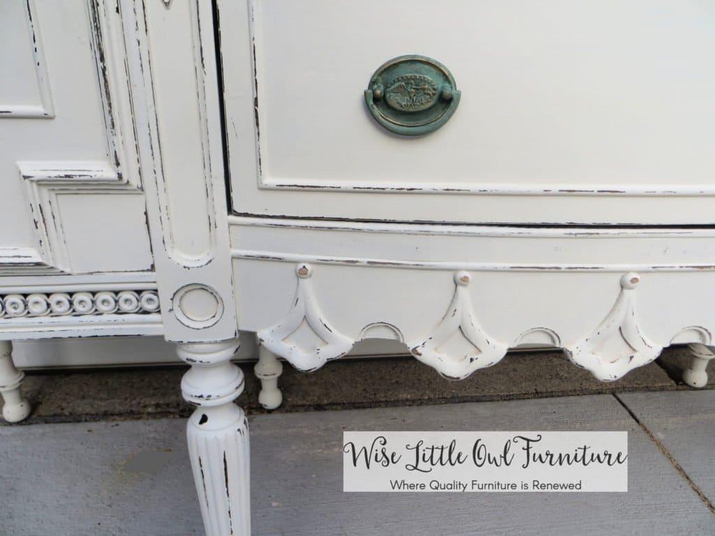 antique buffet teardrop detail
