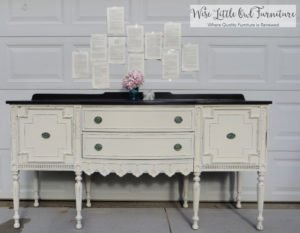 creamy white antique buffet