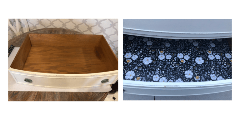 lined drawer before & after