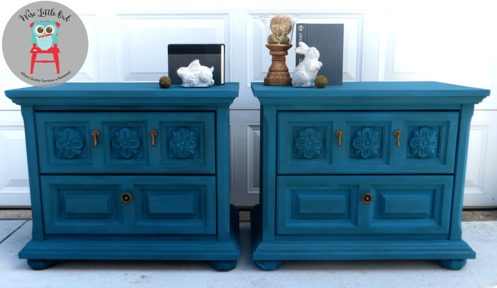teal night stands after