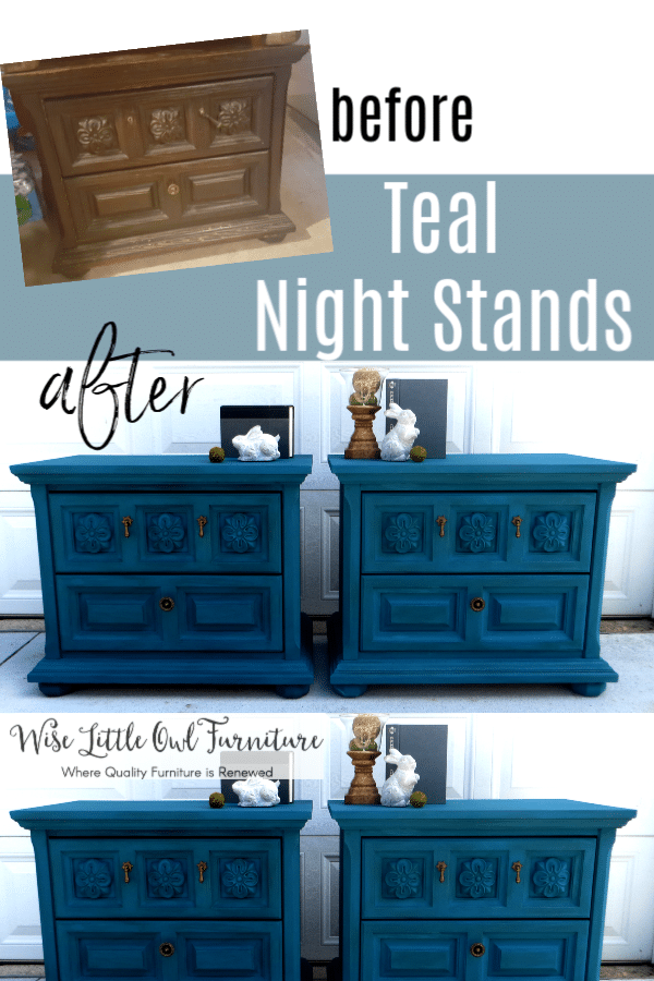 teal night stands pinterest