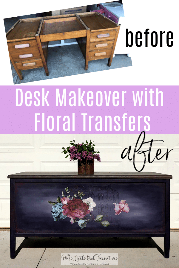furniture transfer desk before and after