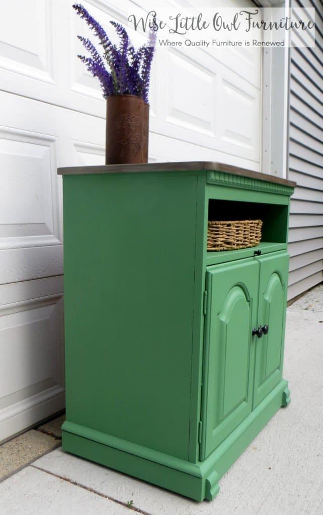 market green cabinet side