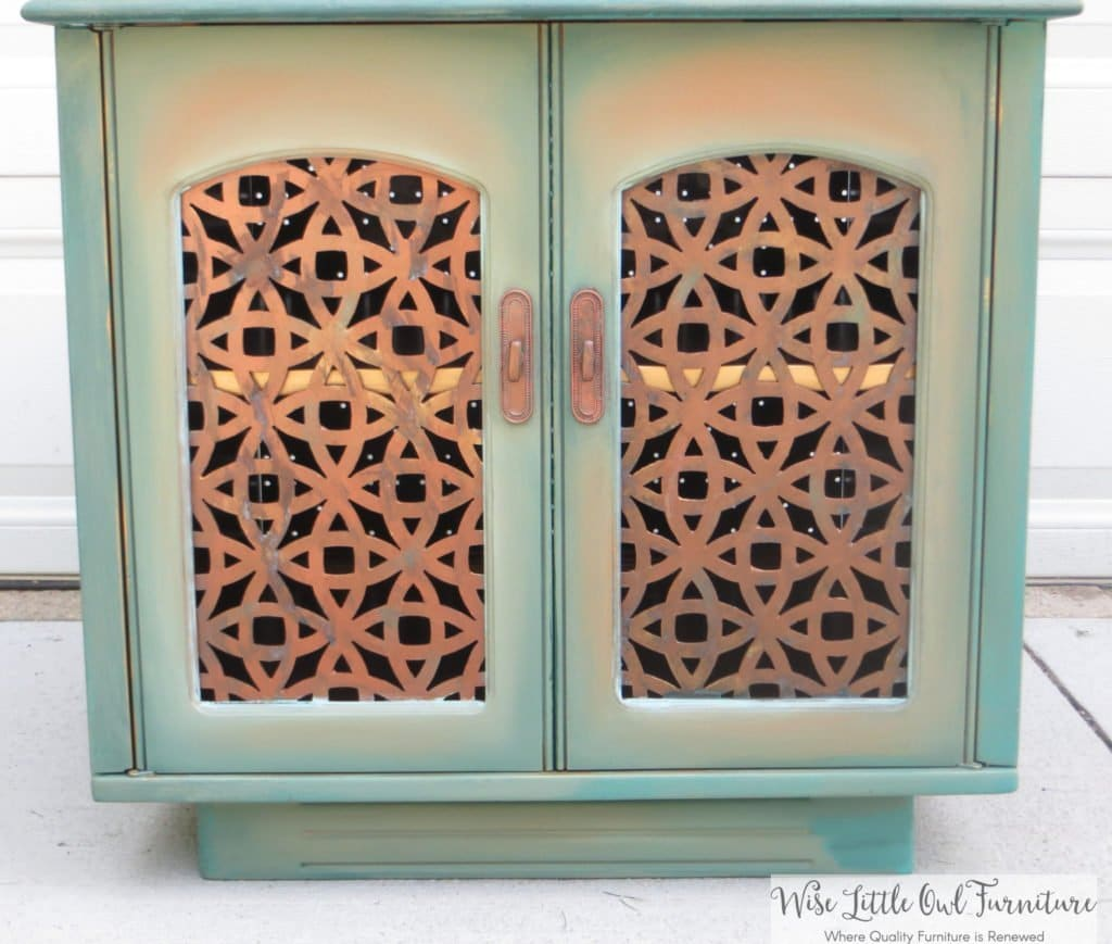 boho end table blended doors