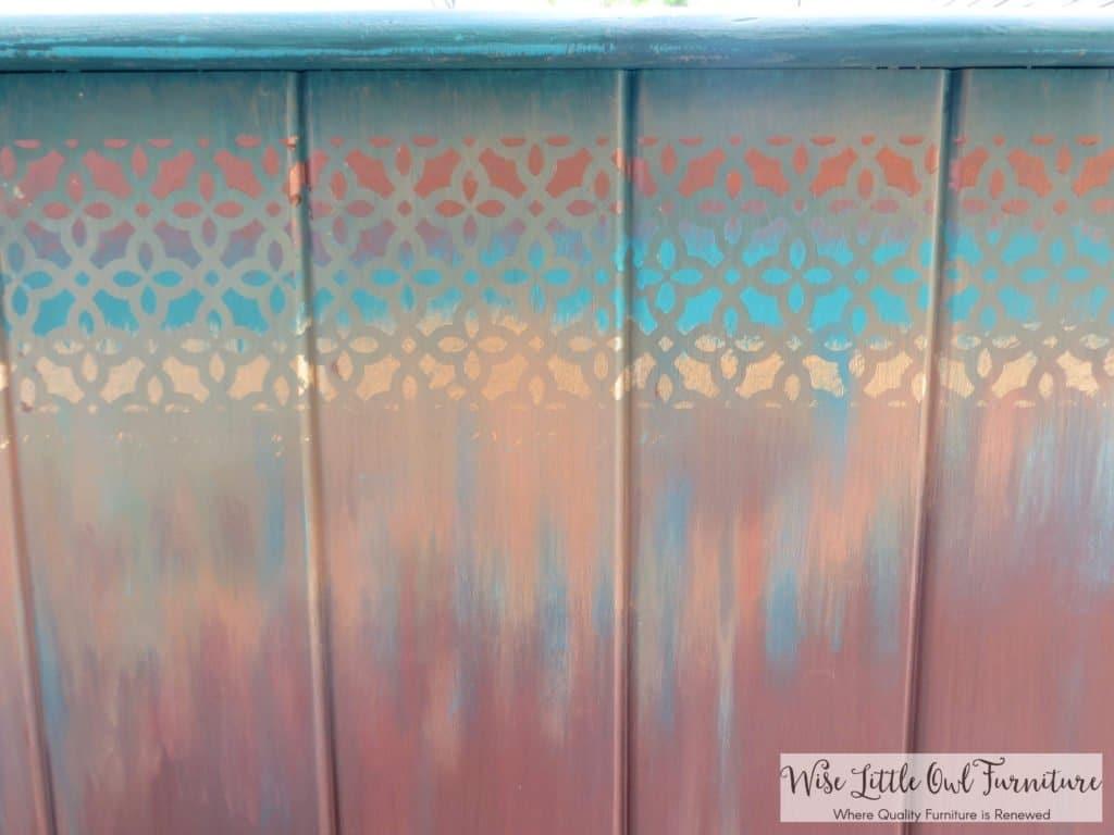 boho end table stencil