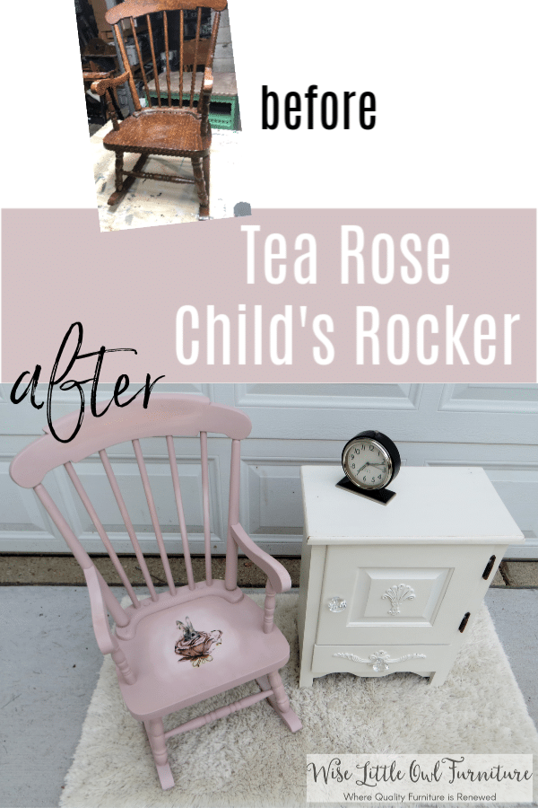 child rocker before and after