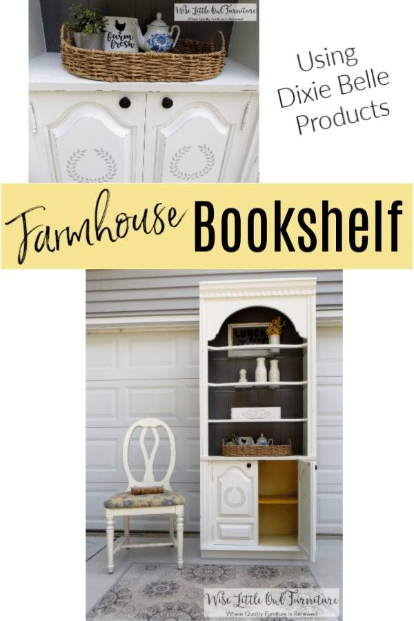 farmhouse bookshelf pinterest