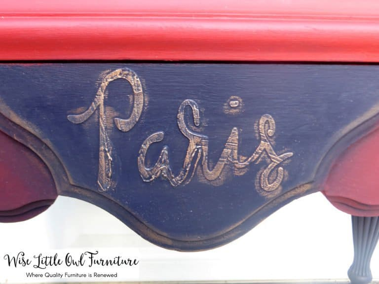 paris raised stencil