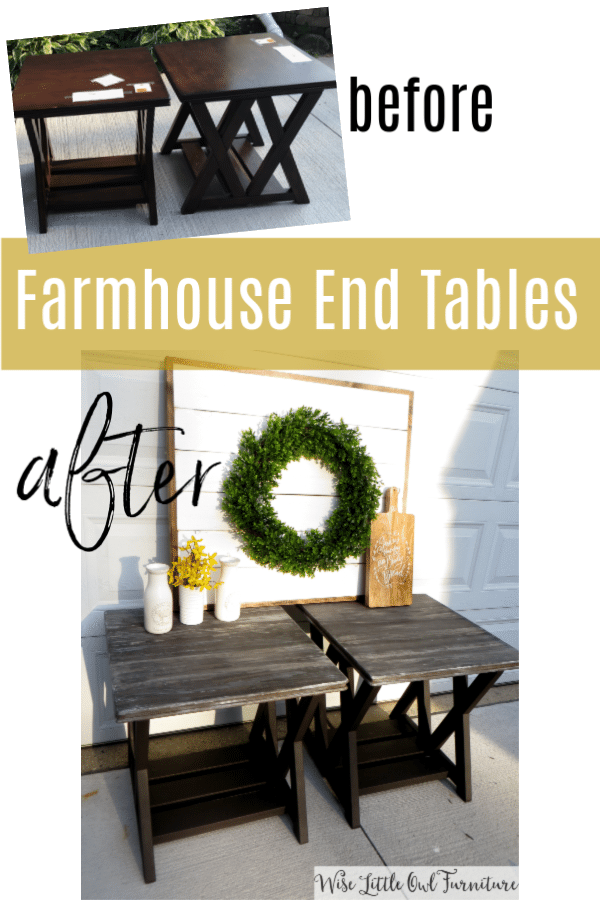 end tables before & after