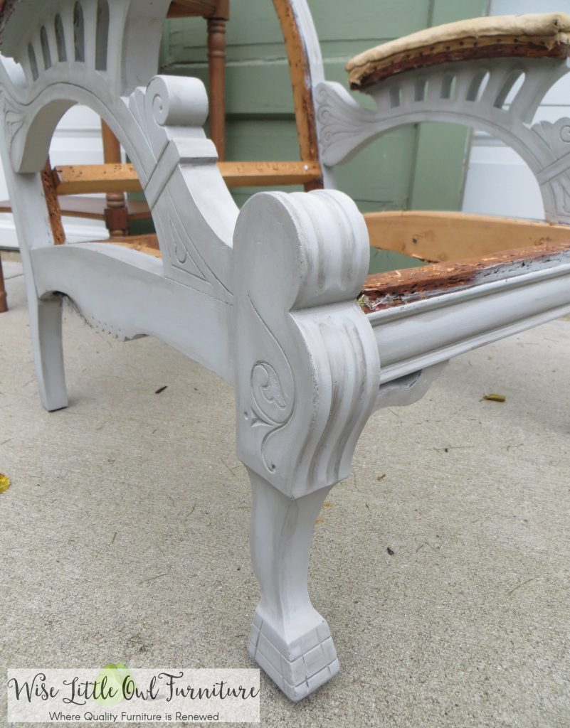 deconstructed chair leg
