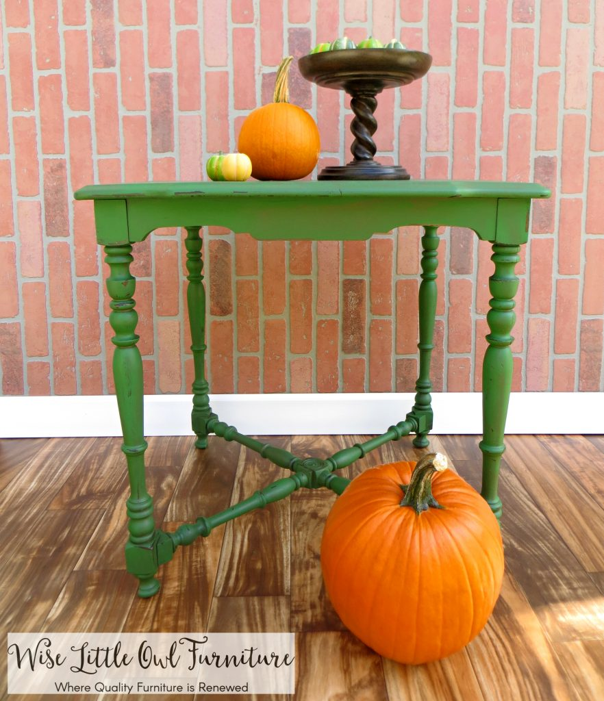 green table front