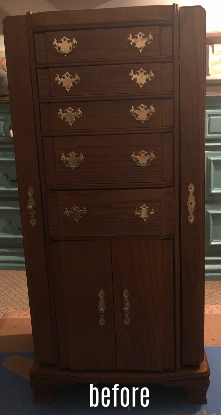 jewelry armoire before