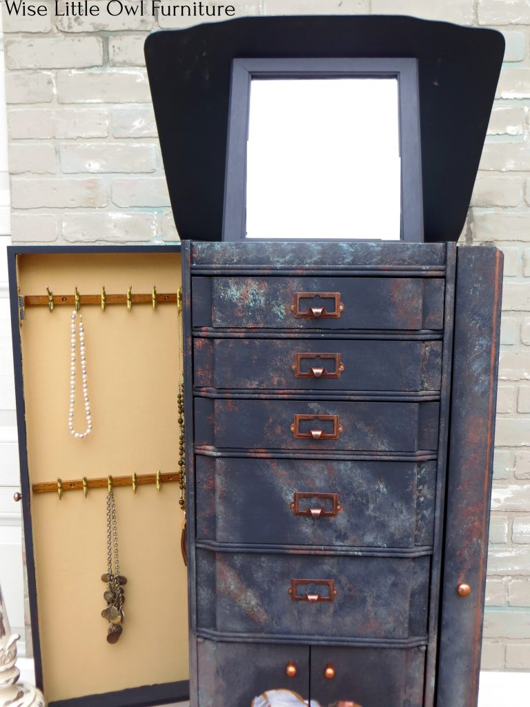 jewelry armoire open