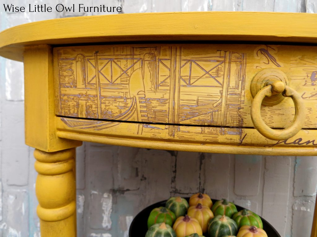 yellow accent table left drawer