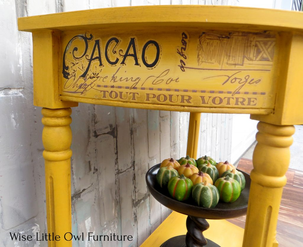 yellow accent table left side