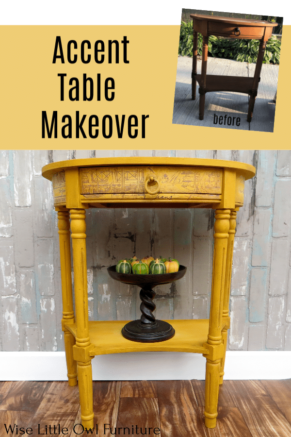 yellow accent table pinterest