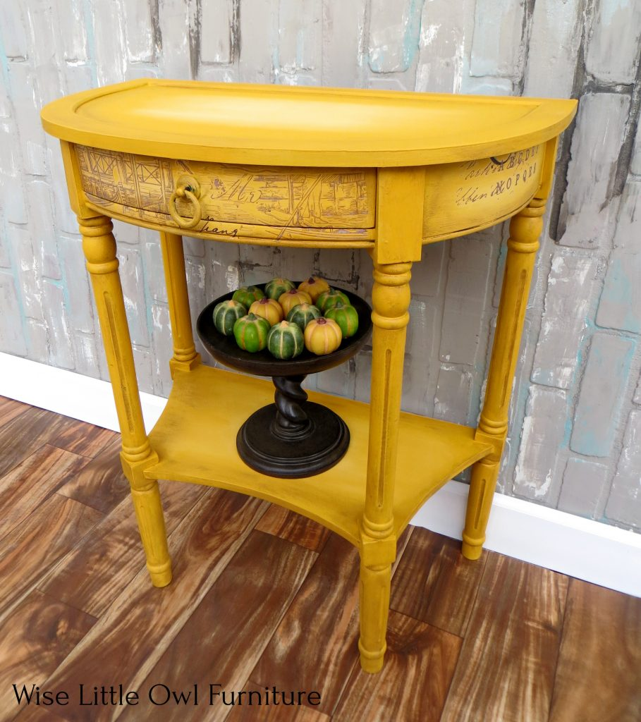yellow accent table top view