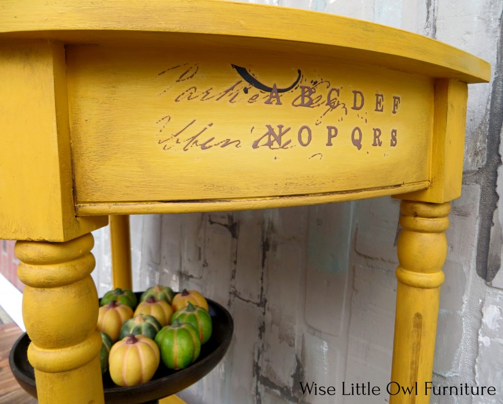 yellow side table right side