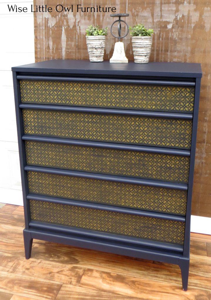 navy blue dresser right angle