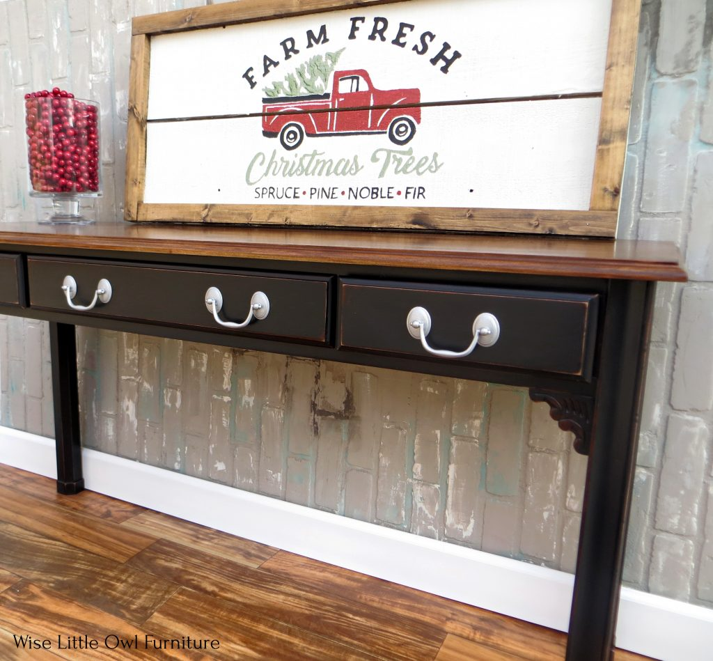 sofa table side view