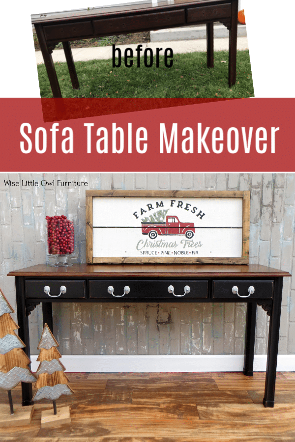 sofa table before & after pinterest