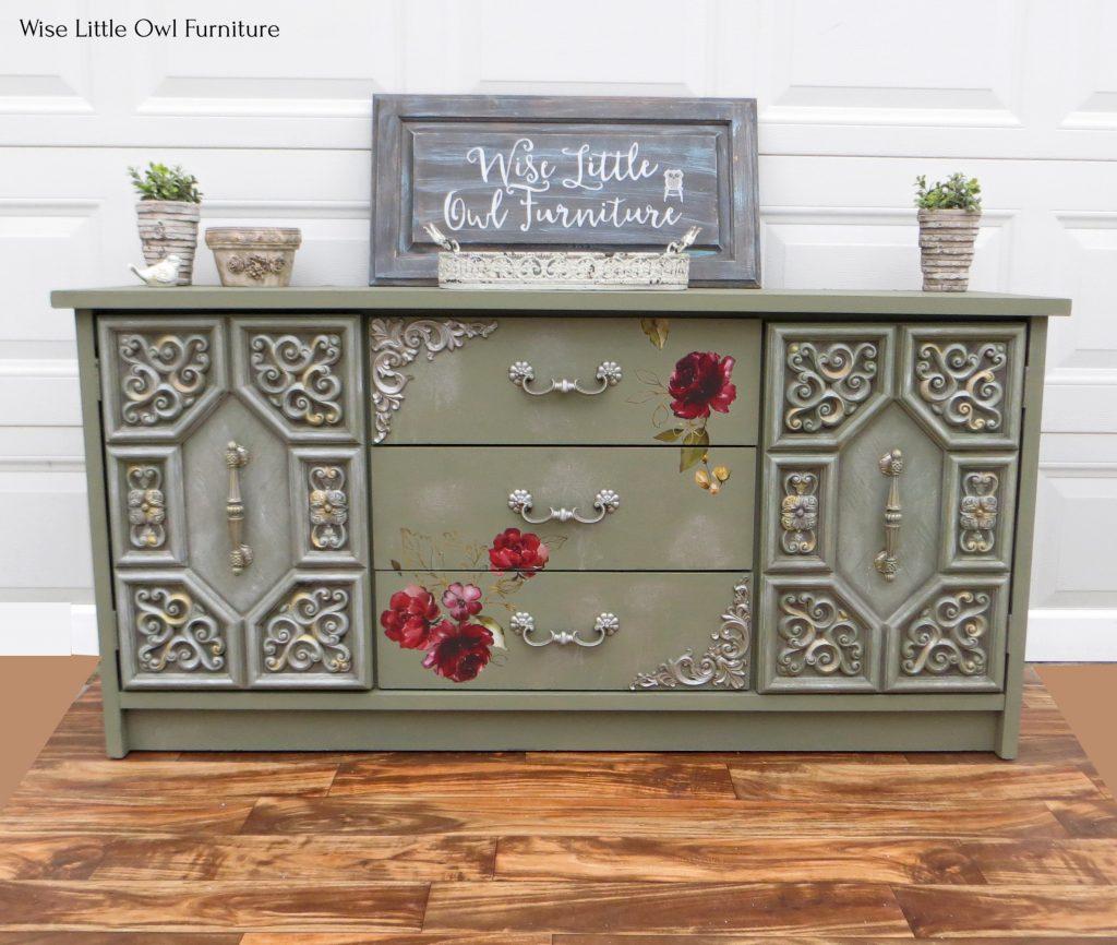 green dresser front