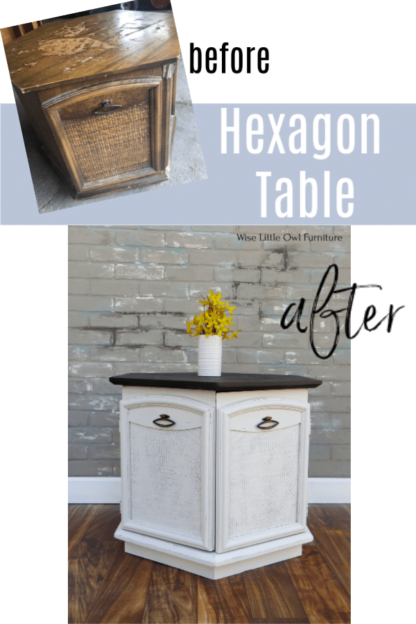 hexagon table before and after