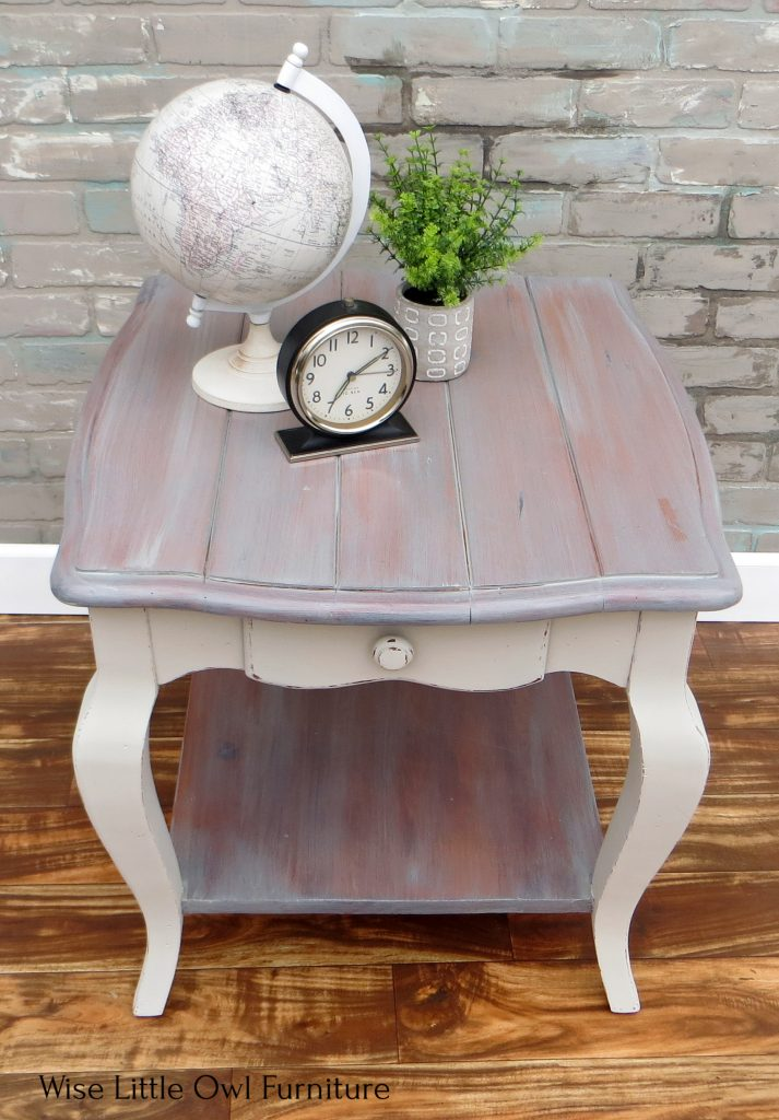 planked end table top