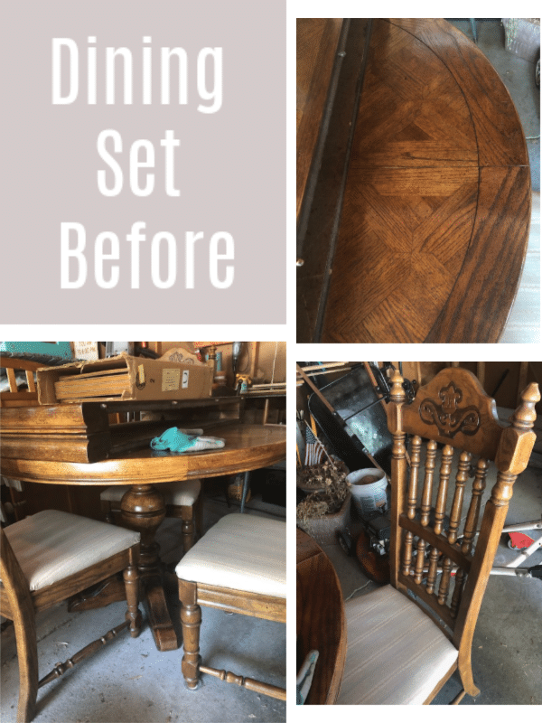 dining set before collage